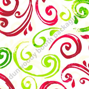 "24""x400ft Roll - 5503 Christmas Swirl Gift Wrap"