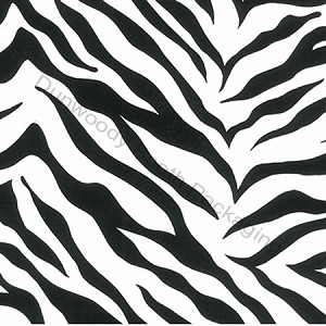 "24""x833ft Roll - 2127 Zebra Stripes Gift Wrap"