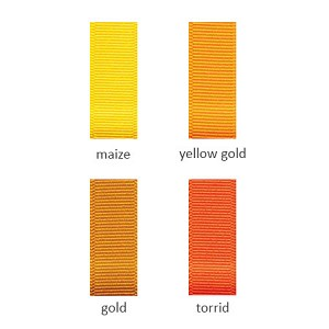 Grosgrain Ribbon - 5/8in. x 100 yds. - Shades of Orange and Yellow
