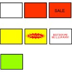 Labels for Avery Dennison 210 Labeler - Sale on Red, Removable