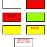 Labels for Avery Dennison M-1 Labeler - Removable White