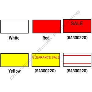 Labels for use with Motex 5500/Towa 1/ Tag Easy Labelers- Yellow Permanent