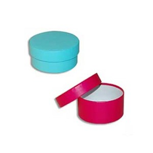 "Extra Large Round Rigid Boxes 9"" diam. x 4""h- Colors"