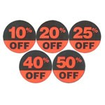 Circular Discount Labels