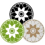 Flower Medallion Labels