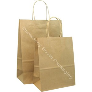 100% Recycled Kraft Paper Shopping Bags - Jaguar - PS21117