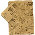 Paper Accessory Bags - Newsprint - 11-1/2 x 3 x 18