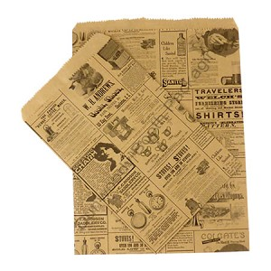 "Paper Accessory Bags - Newsprint - 8-1/2"" x 11"""