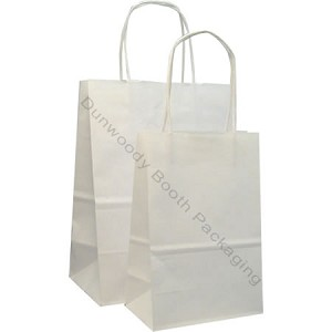 Matte White Paper Shopping Bags - Toucan - PS21146