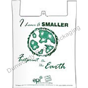 "Biodegradable T-Shirt Bags - 12""x7""x22"""