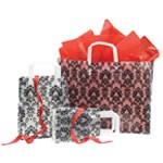 Black Damask Frosted Shoppers - 5