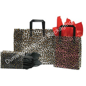 "Leopard Frosted Shoppers - 5""x3""x7"""
