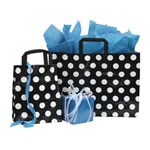 Black and White Dots Poly Shoppers - 5