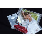 Self Adhesive Cellophane Bags with Hanging Holes - Clear - 2-3/4