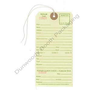 "Repair Tags with String - 3-3/8""x6-1/4"""