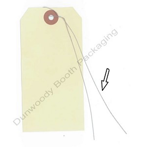 "Shipping Tag Wires - 12"" long"