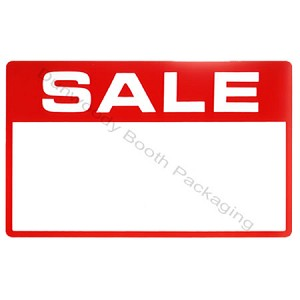 "Erasable Plastic Sign Cards - ""SALE"""