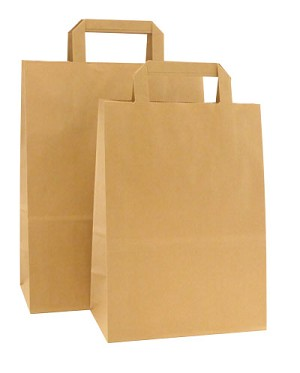 HD Square Handle Kraft Paper Shopping Bags - Per 100 - Vanity-Missy