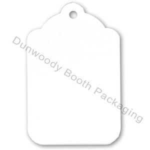 "Blank White Tags - Bell Shaped - 1-1/8""x1-3/4"""