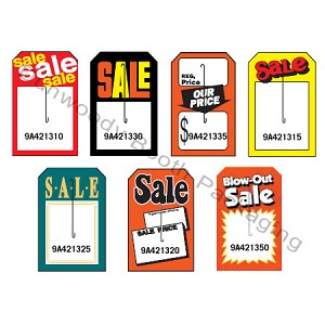 "Large Slotted Premium Sale Tags - 3-1/2""x5-1/2"""