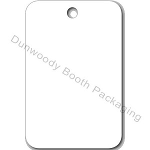 "Blank White Tags - 1-1/4""x1-7/8"""