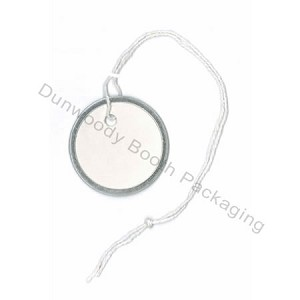Metal Rim Tags with String
