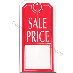"Slotted Tags - 2-1/2""x5"" - Red/White ""SALE PRICE"""