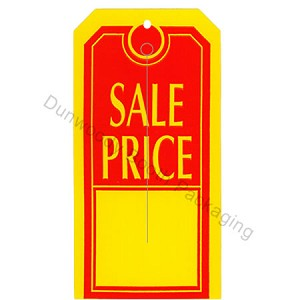 "Slotted Tags - 2-1/2""x5"" - Red/Yellow ""SALE PRICE"""