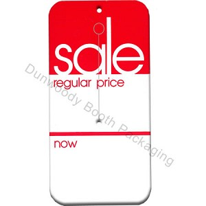 "Slotted Sale Tags - Red/White - 2""x4"""