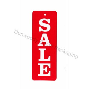 "Vertical Red/White Sale Tags - 1-1/4""x3-1/2"""