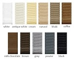 Grosgrain Ribbon - 1-1/2in. x 50 yds. - Shades of White, Black, Brown