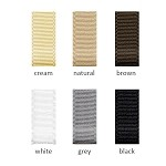 Grosgrain Ribbon - 7/8in. x 100 yds. - Shades of White, Black, Brown