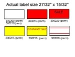 Labels for the Tag Easy/Towa 1/Motex 5500-White Permanent