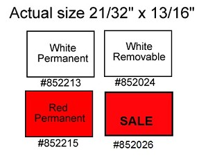 Labels for Towa Two Line Labeler - Removable White